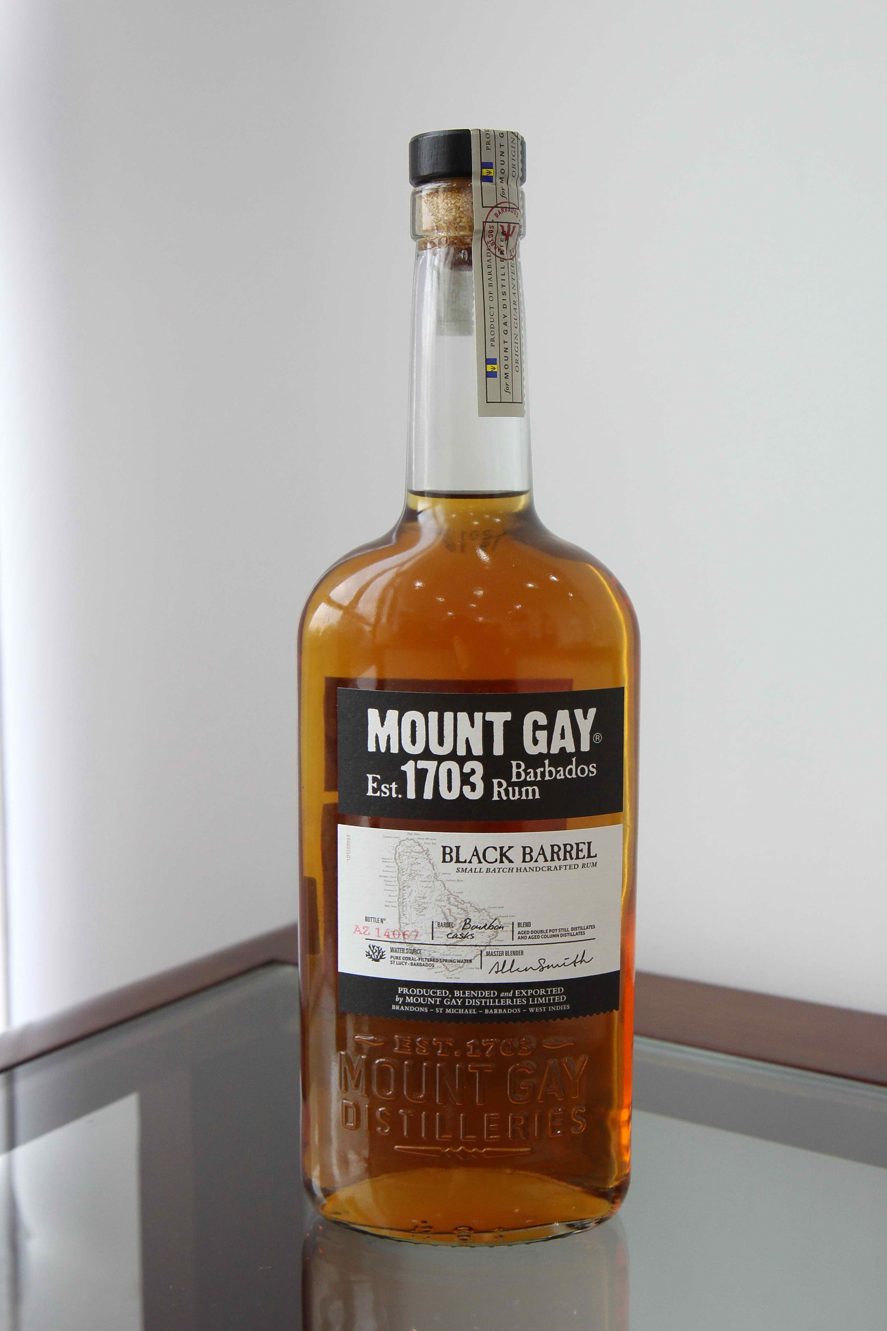 Mount gay rum barbados 1703
